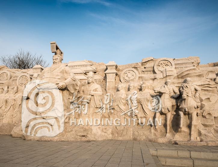 古代人物群雕