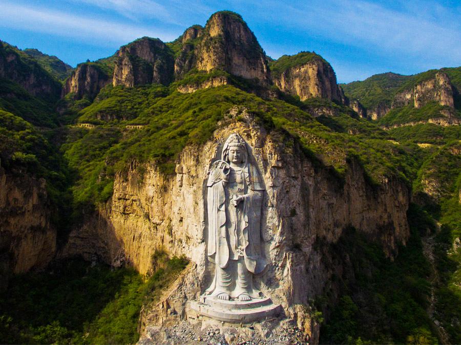 石家庄沕沕水生态景区观音像石雕项目