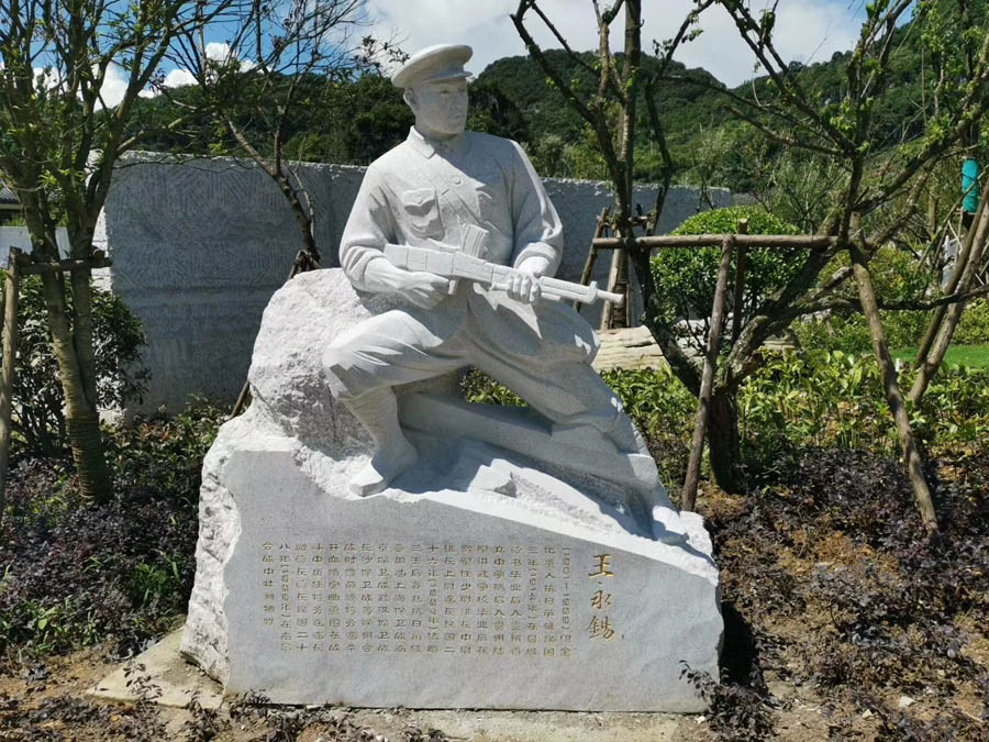 石雕名人像