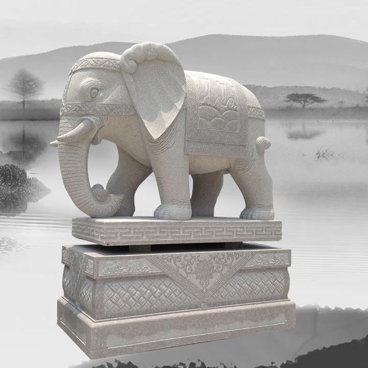 企业门前放一对石大象有什么寓意?