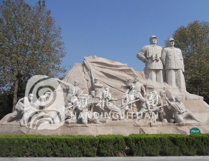 抗战纪念人物群雕