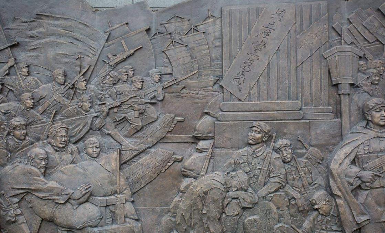 红色铸铜浮雕